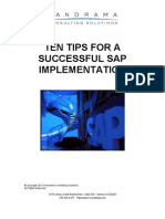 Ten Tips for a Successful SAP Implementation