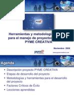 Manejo Proyectos. Pyme Creativa. Itesm