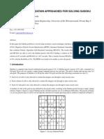 Marwala Genetic algorithm Sudoku