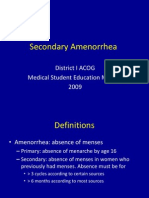 Secondary Amenorrhea (1)