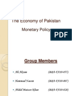 The Economy of Pakistan (Monetary Policy)