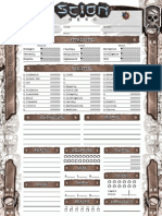 Scion Hero4 Page Editable Copy Role Playing Tabletop Games