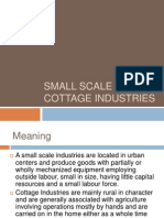 Small Scale and Cottage Industries