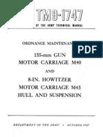 TM 9-1747 155MM GUN MOTOR CARRIAGE M40, M43
