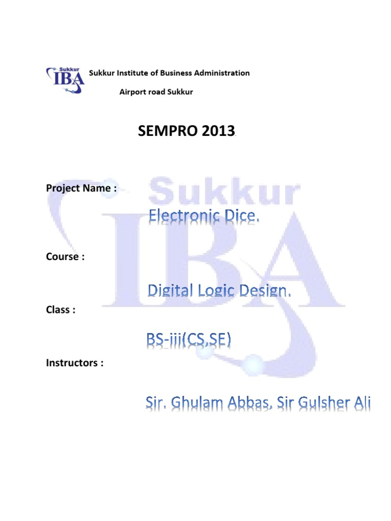 Project Reportpdf Electronic Circuits Component Dice Circuit Using Ic Cd4017