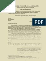 Segundo, Juan Luis - Apuntes sobre Teología de la Liberacion-1985