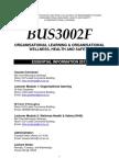 BUS3002F Course Outline 2013