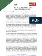 PlanReactivacionEconomia Paro PSOE