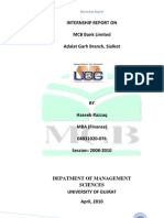INTERNSHIP REPORT OF MCB BY WAQAS NIAZI 0313-968454