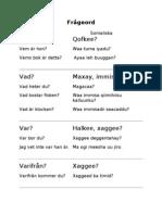 Frågeord på svenska och somaliska