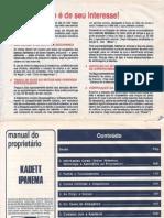 Manual Kadett e Ipanema