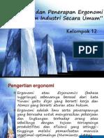 Konsep dan Penerapan Ergonomi dalam Industri Secara Umum