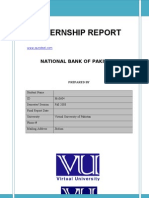 HRM619 Internship Report on National Bank of Pakistan 2012
