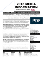 050513 Reading Fightins Game Notes