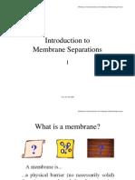 Membrane Separations