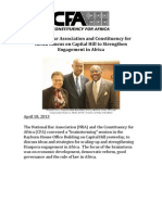 NBA and CFA Brainstorm Statement