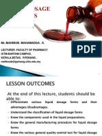 Liquid Dosage Form- Lectr-1
