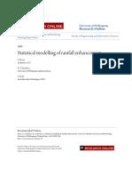 Statistical Modelling of Rainfall Enhancement