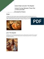 Similarities Between Elijah and John the Baptist
