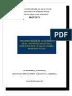 Proyecto Implementacion de Ecografo Villa Venezuela