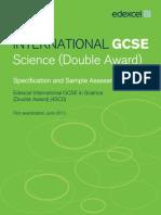 UG030052 International GCSE in Science Master Booklet Spec Issue 4 SAMs for Web 280212