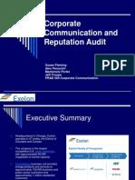 Corporate Communication and Reputation Audit