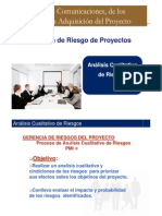 Analisis Cualitativo de Riesgos en proyectos