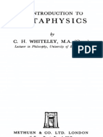 C.H. Whiteley - An Introduction to Metaphysics