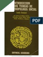 DUMONT, Louis Introduccion a Dos Teorias de La Antropologia Social