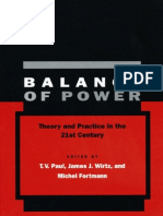 Balance of Power Theory and Practice in the 21st Century[1]