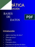 Presentación Introducción BBDD