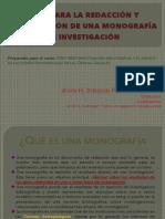 PRESENTACIÓN-Cómo redactar y presentar una monografía investigativa y académica
