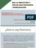 PRESENTACIÓN-Cómo redactar y presentar una propuesta de investigación académica