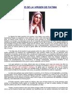 Mensaje de La Virgen de Fatima