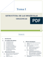 Tema_I_ESTRUCTURA DE LAS MOLÉCULAS ORGÁNICAS
