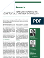 Formulation Flexibility Broadens the Oral Thin Film-- Oral Drug Delivery May 2011