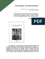 La Tumba de Faulkner, de Daniel Groisman