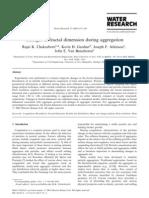 Changes in Fractal Dimension During Aggregation