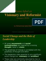 Allama Iqbal as Visionary Reformist