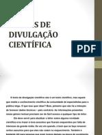 TEXTOS DE DIVULGAÇÃO CIENTÍFICA