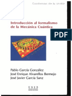 INTRODUCCIÓN AL FORMALISMO DE LA MECÁNICA CUÁNTICA