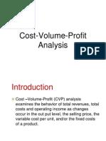 Cost volume analysis