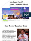 White Paper No. 15 - Cebuanos Suffer Instead from Budget Cuts