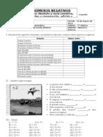 Guía 2 de Adición y Sustracción de  Enteros