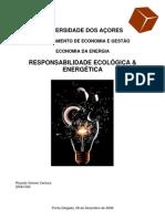RESPONSABILIDADE ECOLÓGICA & ENERGÉTICA