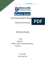 NBS8137 - Proposal B(1)
