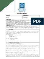 MMU Risk Assessment Form Complete