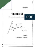 Pärt' Te Deum cover
