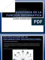 Auditoria de La Funcion Informatica