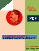 Hoxha - La Cuestión de Stalin. Posición Marxista-Leninista (1966)